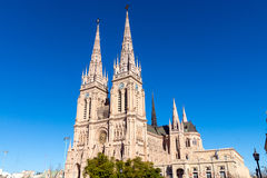 The famous cathedral of Lujan. In the province of Buenos Aires, Argentina Stock Image