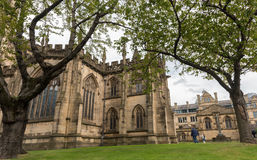 Famous cathedral of Manchester city in  UK Stock Image