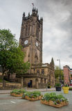 Famous cathedral of Manchester city in  UK Royalty Free Stock Photos