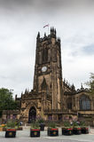 Famous cathedral of Manchester, UK Royalty Free Stock Photos
