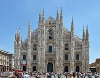 Famous cathedral of Milan in Italy stock photos