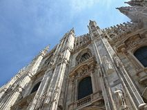Famous cathedral in milan in Italy stock photos