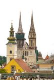 Panorama Zagreb, Croatia Royalty Free Stock Images