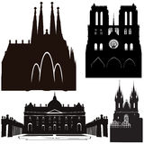 Famous cathedrals Stock Image