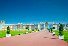 Famous Catherine Palace in Petersburg Stock Image