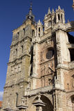 The famous Catholic cathedral in Astorga, Spain Stock Image