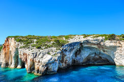 Free Famous Caves With Crystal Clear Waters On Zakynthos Island (Greece) Royalty Free Stock Image - 33147916