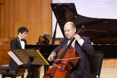 Famous cellist suli of xiamen university play cello Stock Photo
