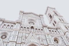 Whitewashed Architecture of Florence Stock Image