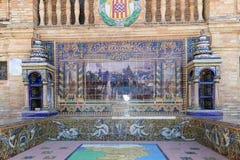 Famous ceramic decoration in Plaza de Espana , Sevilla, Spain. Stock Image