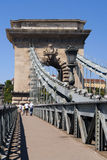 The famous Chain Bridge across the Danube in Budap Stock Photography