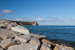 Famous chalk cliff on Cap Arcona Stock Photo