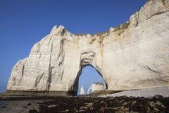 Famous chalk cliffs Stock Photos