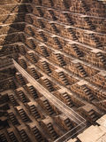 The Famous Chand Baori Stepwell in Abhaneri, Rajasthan, India Royalty Free Stock Images