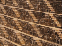 The Famous Chand Baori Stepwell in Abhaneri, Rajasthan, India Stock Image