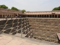 The famous Chand Baori Stepwell in the village of Abhaneri, Rajasthan, India