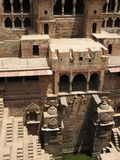 The famous Chand Baori Stepwell in the village of Abhaneri, Rajasthan, India royalty free stock photography