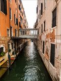 Famous channels at Venezia Royalty Free Stock Photos