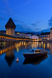 The famous Chapel Bridge,luzern Switzerland Royalty Free Stock Image