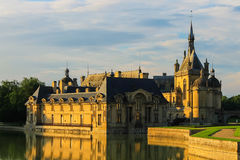 Famous Chateau de Chantilly (Chantilly Castle). France Stock Images