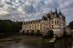 Chateau de Chenonceau. Famous Chateau de Chenonceau. A manor house near the small village of Chenonceaux. Loire Valley, France royalty free stock photos