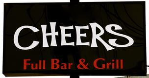 Cheers Bar Sign Royalty Free Stock Image