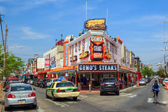 The famous cheesesteak restaurant Geno's Steaks Royalty Free Stock Images