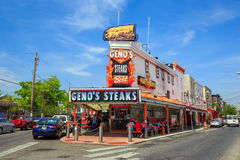 The famous cheesesteak restaurant Geno's Steaks Stock Images