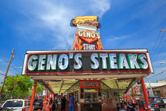 The famous cheesesteak restaurant Geno's Steaks Royalty Free Stock Photos