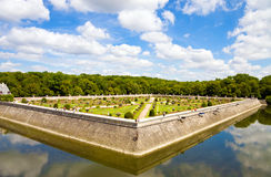 Famous Chenonceaux park in France Stock Photos