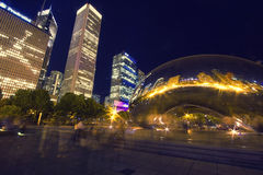 Famous Chicago Bean. With Skyline Reflection, Chicago, USA Royalty Free Stock Photo