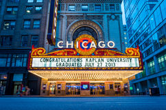 The famous Chicago Theater Royalty Free Stock Image