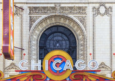 The famous Chicago Theater on State Street Stock Images
