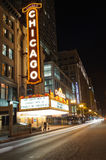 The famous Chicago Theater on State Street on october 4, 2011 i Royalty Free Stock Photos