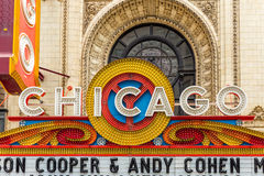 The famous Chicago Theatre, Illinois, USA Royalty Free Stock Image