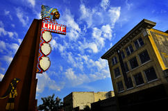Famous Chief Theater in Pocatello Idaho Stock Image