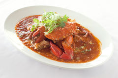 Famous chili crab Stock Photos