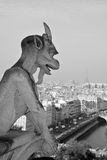 Famous chimere of Notre-Dame Stock Photo