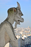 Famous chimere of Notre-Dame Stock Image