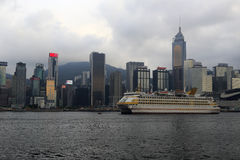 The famous china star cruise mooring in hong kong Stock Photo
