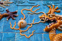 Famous chinese dragon Stock Photography