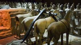The famous Chinese terracotta army Royalty Free Stock Photo