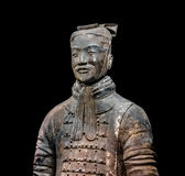 Famous Chinese terracotta warriors army figures are exhibited Royalty Free Stock Photography