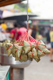 Famous Chinese-Thai dessert called Ba Jang royalty free stock photo