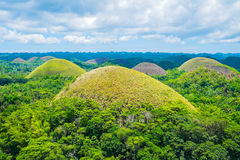 Famous Chocolate Hills natural landmark in Philippines Royalty Free Stock Image