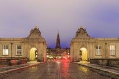 The famous Christiansborg Slot in Copenhagen, Denmark Stock Photo