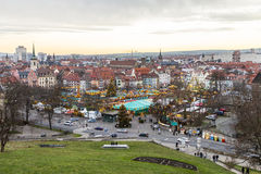 Famous christkindl market in Erfurt, Germany Stock Photos