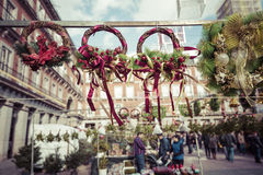 Famous Christmas market in Madrid, Spain. Stock Photography