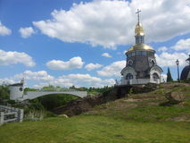 Famous church in beeches (Ukraine) royalty free stock photos