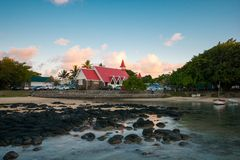 Famous church in Cap malheureux, Mauritius. royalty free stock photo